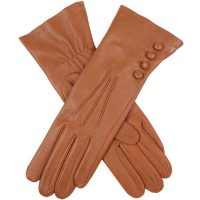 Dents Ladies - Rose Silk Lined Leather Gloves - Saddle