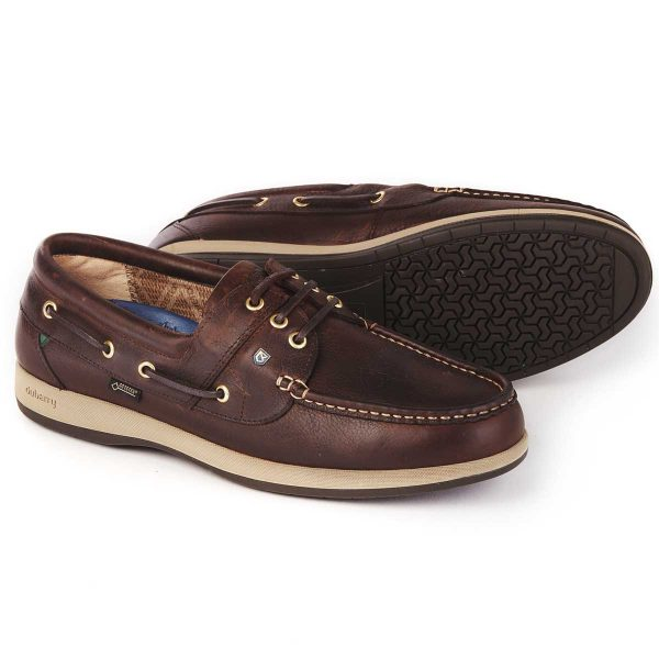 DUBARRY Deck Shoes - Men's Mariner Gore-Tex - Mahogany