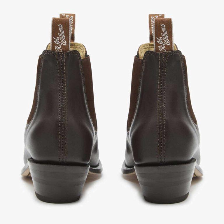 RM WILLIAMS Boots - Ladies Adelaide Cuban Heel - Chestnut