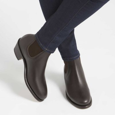 RM WILLIAMS Boots - Ladies Adelaide Cuban Heel - Chestnut