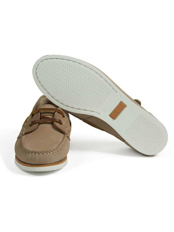 Barbour Ladies Bowline Boat Shoes - Stone