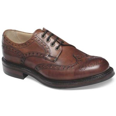 Cheaney - Avon C Wingcap Country Brogue - Dark Leaf Calf