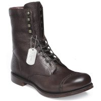Cheaney - Tiger Moth R Mid Calf Military Style Boots Walnut Grain