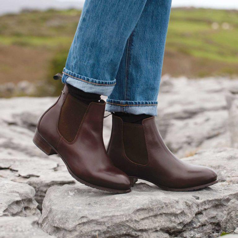 Dubarry Ladies Cork Chelsea Boots Mahogany