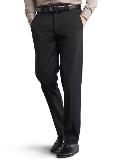 Meyer Roma 288 - Fine Gabardine Wool Mix Trousers - Black