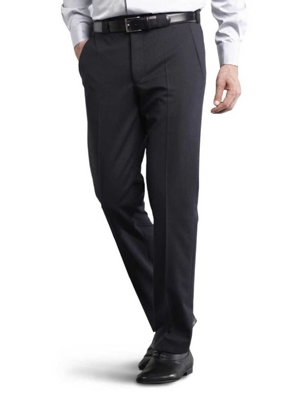 Meyer Roma 288 - Fine Gabardine Wool Mix Trousers - Navy