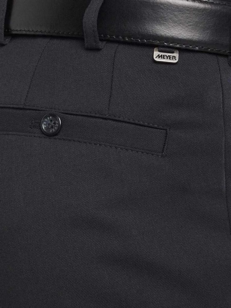 Meyer Roma 288 - Fine Gabardine Wool Mix Trousers - Navy