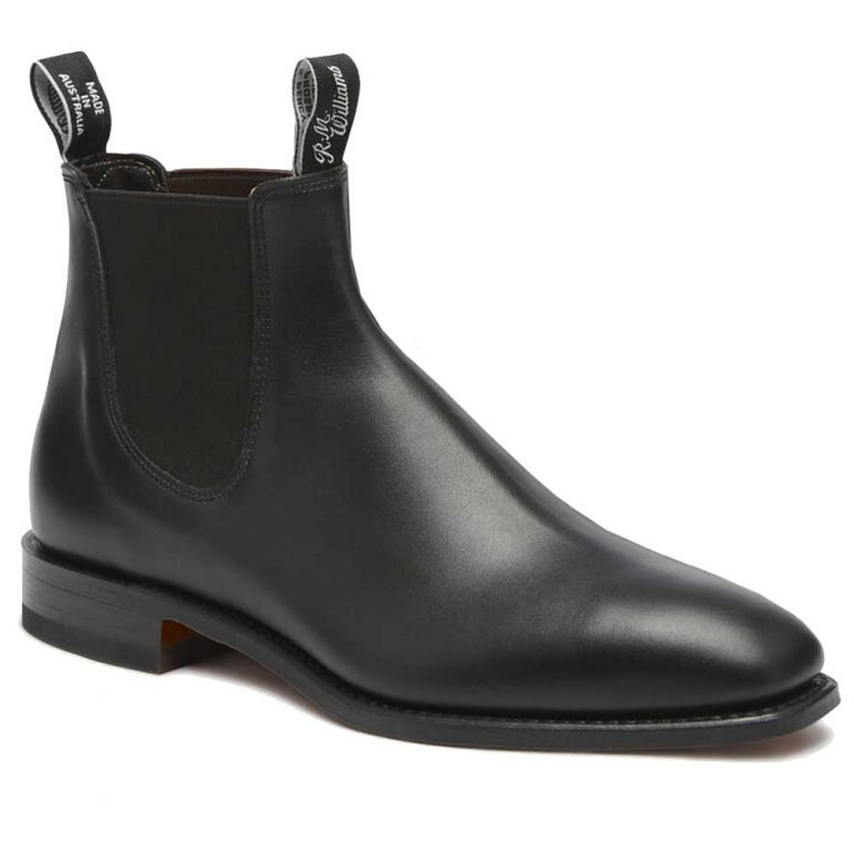 RM WILLIAMS Boots - Ladies Adelaide Rubber Sole - Black