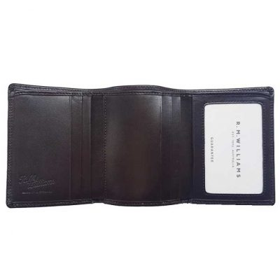 RM WILLIAMS Wallet - Mens Small Tri-Fold Leather - Chestnut