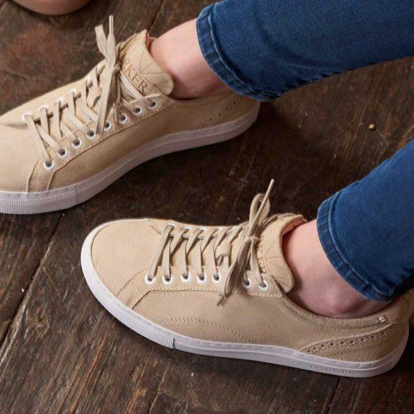 Barker Ladies Isla Sneakers – Beige Suede