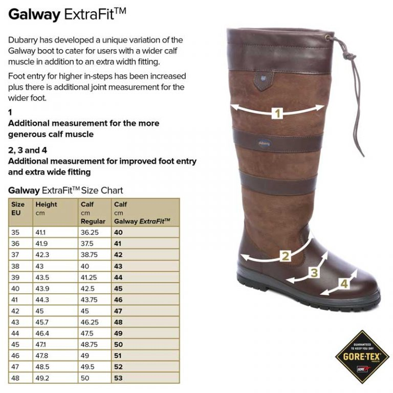 dubarry-galway-extra-fit-size-guide