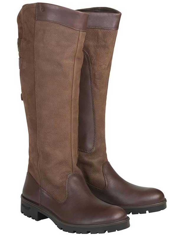 Dubarry Ladies Clare Leather Boots - Walnut