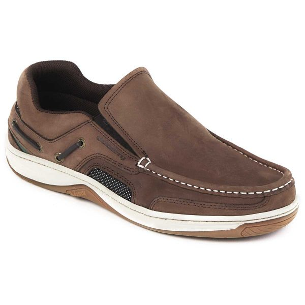 DUBARRY Deck Shoes - Men's Yacht Loafer - Donkey Brown Nubuck