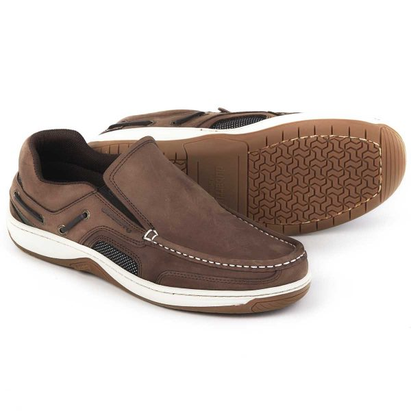 DUBARRY Deck Shoes - Men's Yacht Loafer - Donkey Brown Nubuck