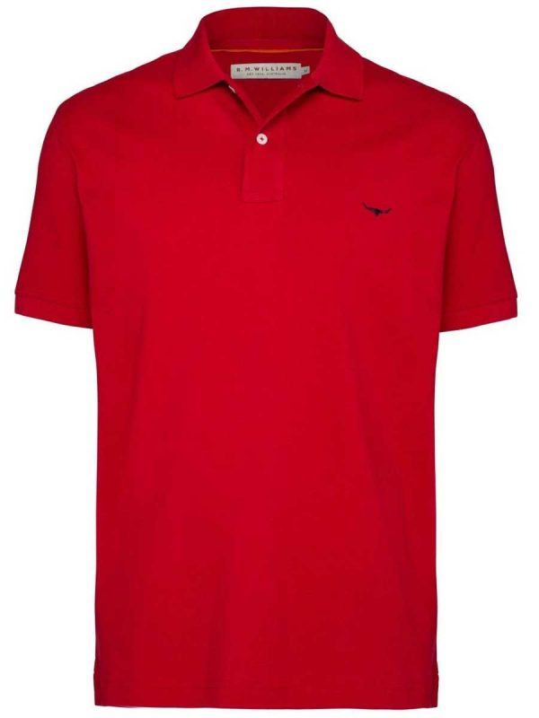 RM WILLIAMS Polo Shirt - Men's Rod - Red