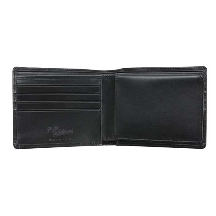 RM WILLIAMS Wallet - Mens Tri-Fold Leather - Black