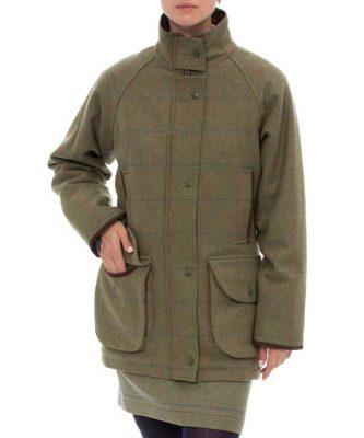 ALAN PAINE – Ladies Combrook Tweed Shooting Coat - Juniper