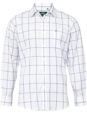 ALAN PAINE - Mens Aylesbury Country Check Shirt - Blue