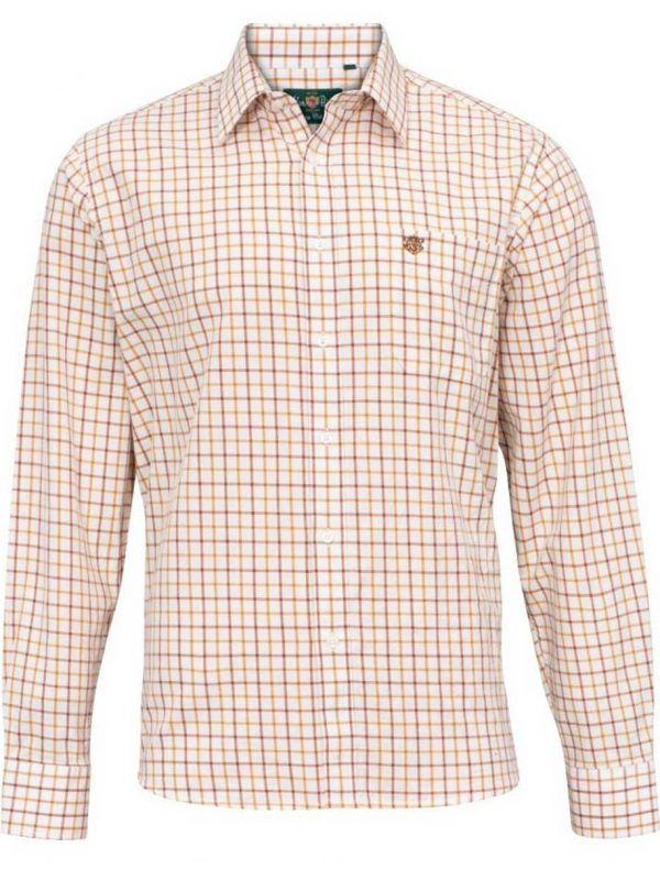 ALAN PAINE - Mens Aylesbury Country Check Shirt - Gazelle