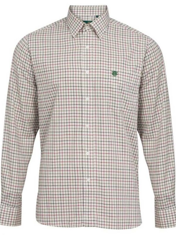 ALAN PAINE - Mens Aylesbury Country Check Shirt - Red