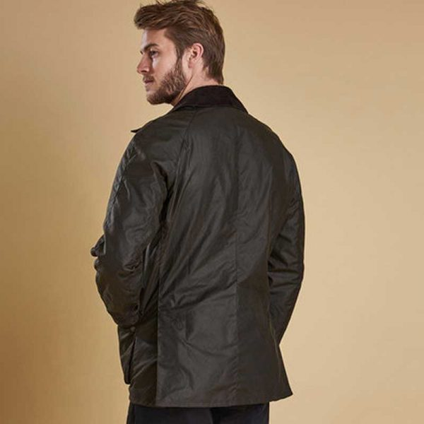 barbour-ashby-wax-jacket-olive-back-view