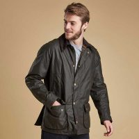 barbour-ashby-wax-jacket-olive-front-view
