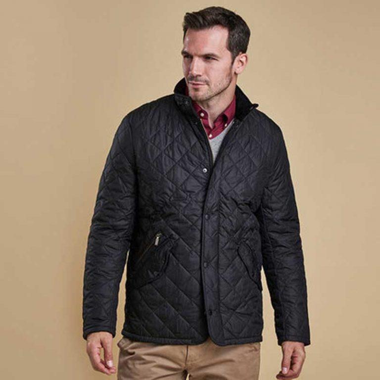 barbour-chelsea-sports-quilt-jacket-black-front-view