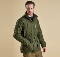 Barbour - Mens Swainby Waterproof Shooting Jacket - Olive