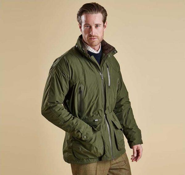 Barbour - Mens Swainby Waterproof Shooting Jacket - Olive