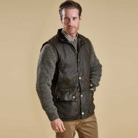 barbour-westmorland-waxed-gilet-olive-front