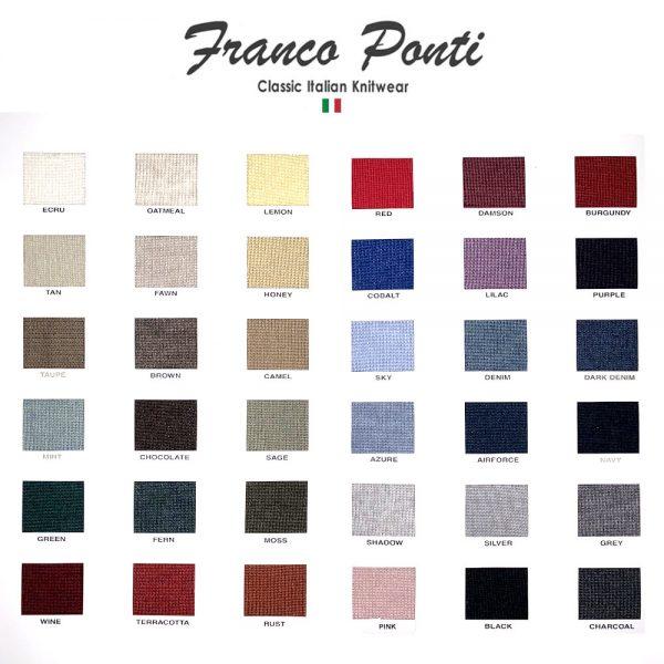 FRANCO PONTI V-Neck Jumper - Mens - 35 Colour Options