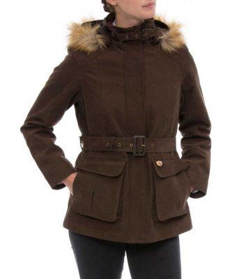ALAN PAINE - Ladies Berwick Waterproof Jacket - Brown