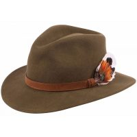 Alan Paine - Richmond Unisex Felt Hat Olive