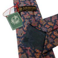 atkinsons-ties-navy-multi-paisley-irish-poplin-print-tie-back-view