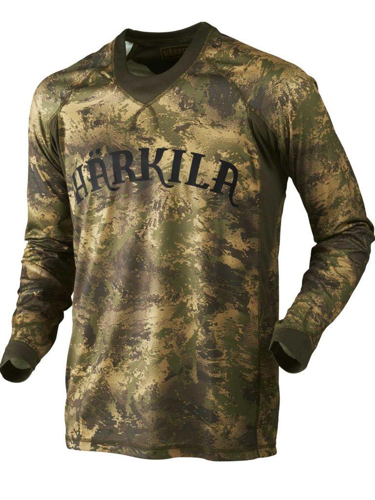 HARKILA Long Sleeve T-Shirt - Mens Lynx - Forest Green