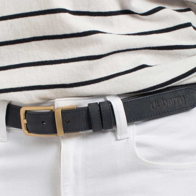 DUBARRY Foynes Leather Belt - Reversible Navy