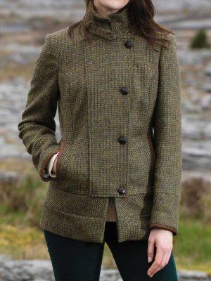 DUBARRY Willow Ladies Sports Tweed Jacket - Heath