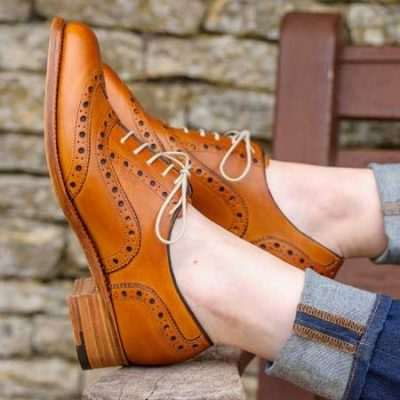 Barker Ladies Sloane Brogues - Cedar Calf