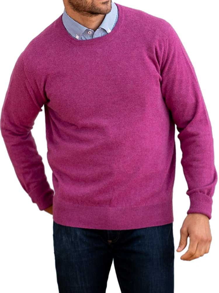 WILLIAM LOCKIE Crew Neck - Oxton 1 Ply Cashmere - 11 Colour Options