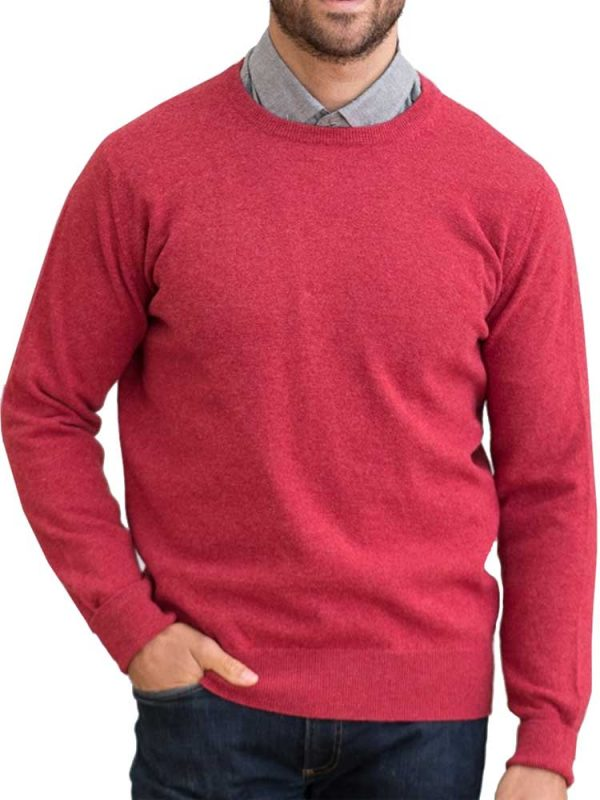 WILLIAM LOCKIE Crew Neck - Mens Gordon 1 Ply Geelong - 13 Colour Options