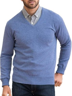 WILLIAM LOCKIE V-Neck - Mens Gordon 1 Ply Geelong - 13 Colour Options