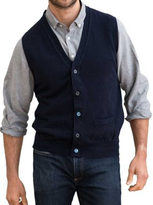 WILLIAM LOCKIE Waistcoat - Mens Gordon 1 Ply Geelong - 4 Colour Options