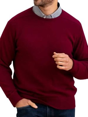 WILLIAM LOCKIE Crew Neck - Mens Rob 2 Ply Lambswool - 13 Colour Options