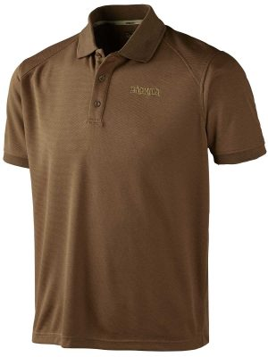 HARKILA Polo Shirt - Mens Gerit Polartec - Sand