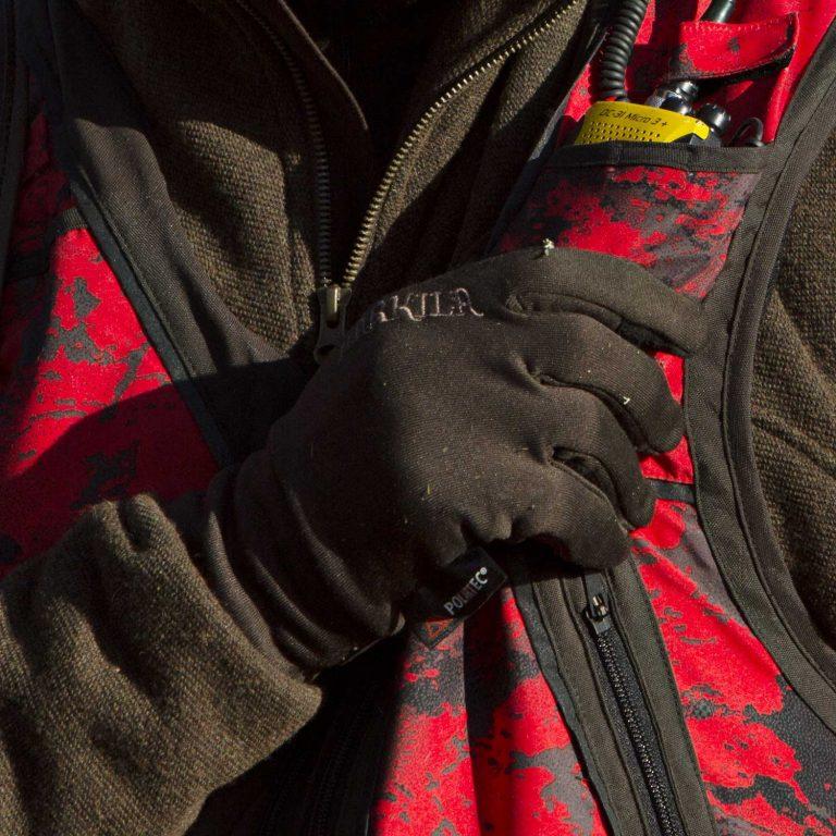 Härkila Power Liner Gloves - Soil Brown