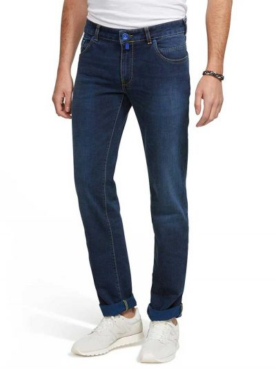 Meyer M5 Jeans - Stretch Denim 6207 - Slim Fit - Overdyed Blue
