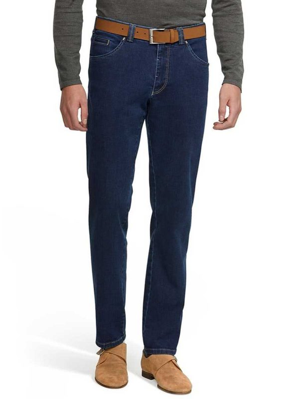 Meyer Jeans Super-Stretch Denim - Dublin 4541 - Blue Stone