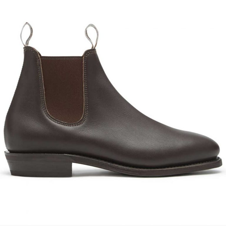 RM WILLIAMS Boots - Ladies Adelaide Rubber Sole - Chestnut