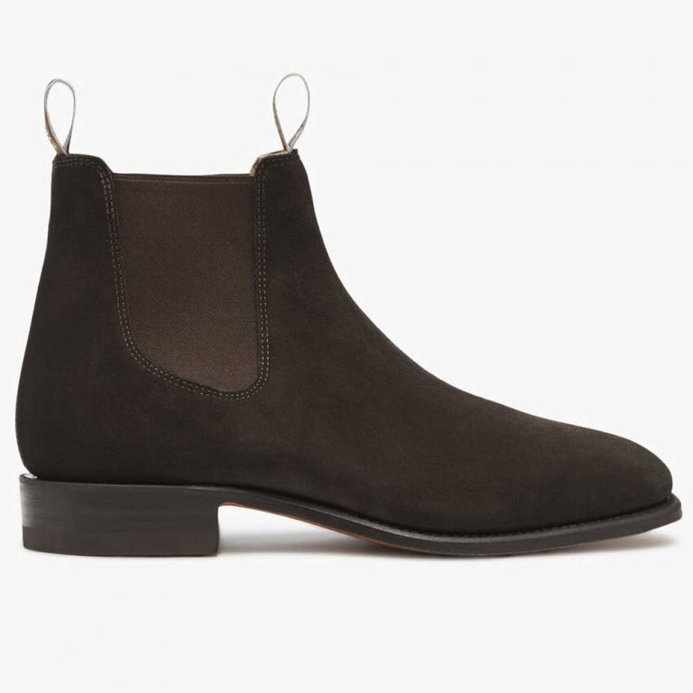 RM WILLIAMS Boots - Men's Classic Craftsman - Chocolate Suede