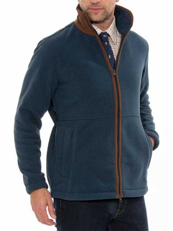 ALAN PAINE - Mens Aylsham Fleece Jacket - Blue Steel